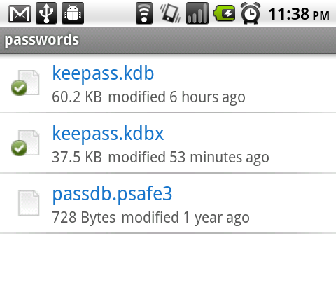 My Gadget: [How-To] - Use Cloud (Dropbox) with KeePassDroid