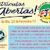 Matriculas Abertas para o EJA na CBL 2017