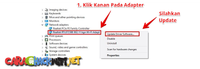 Update Driver Adapter di Windows 7