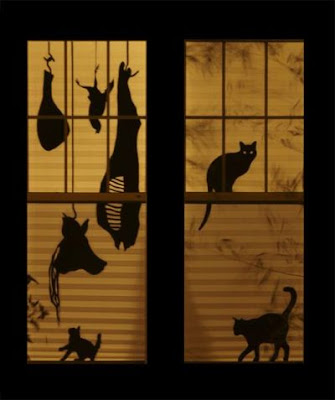siluetas gatos