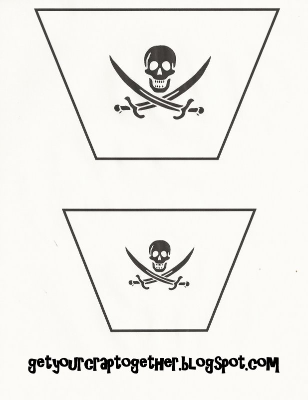 31 days of halloween free halloween pirate printables ii for Pirate ship sail template