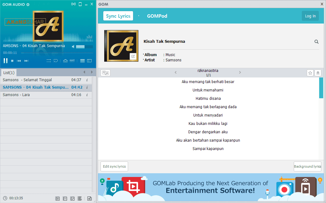 Download GOM Audio Player 2.2.10.0 Terbaru 2017