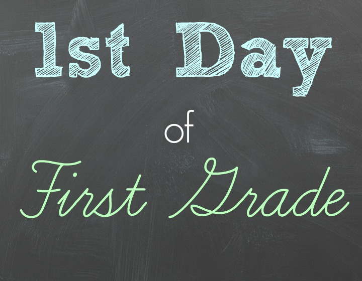 This is an image of First Day of 1st Grade Printable Sign with regard to customizable