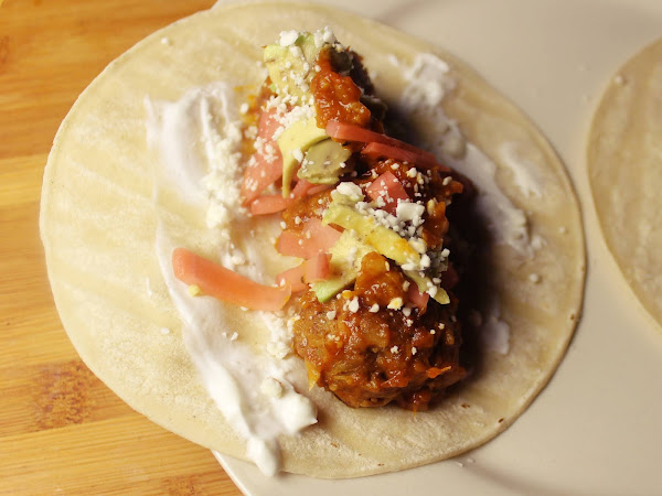 A restaurant favorite at home (Johnny Sanchez Albondigas Tacos)