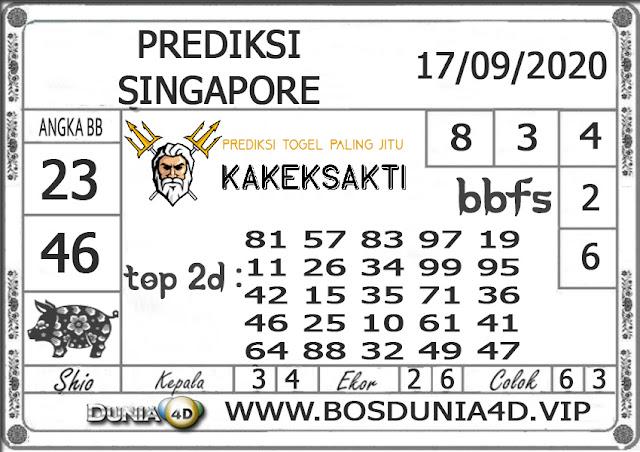 Prediksi Togel SINGAPORE DUNIA4D 17 SEPTEMBER 2020
