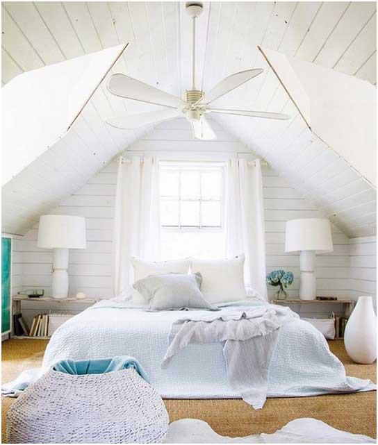 Schlafzimmer Weiß Mit Dachschräge Nachttisch Holz Design
