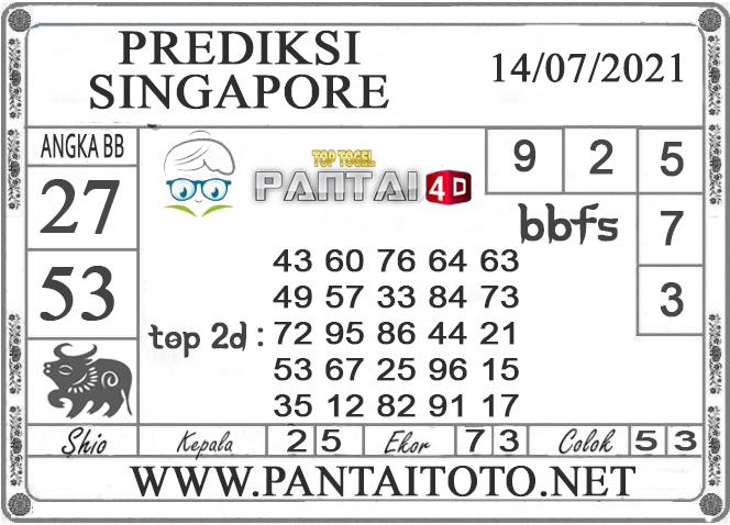 PREDIKSI TOGEL SINGAPORE PANTAI4D 14 JULI 2021