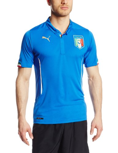 online store 26bf7 668f0 The best Puma Men's FIGC Italia Home Replica Soccer Jersey, Team Power  Blue, Large 2019