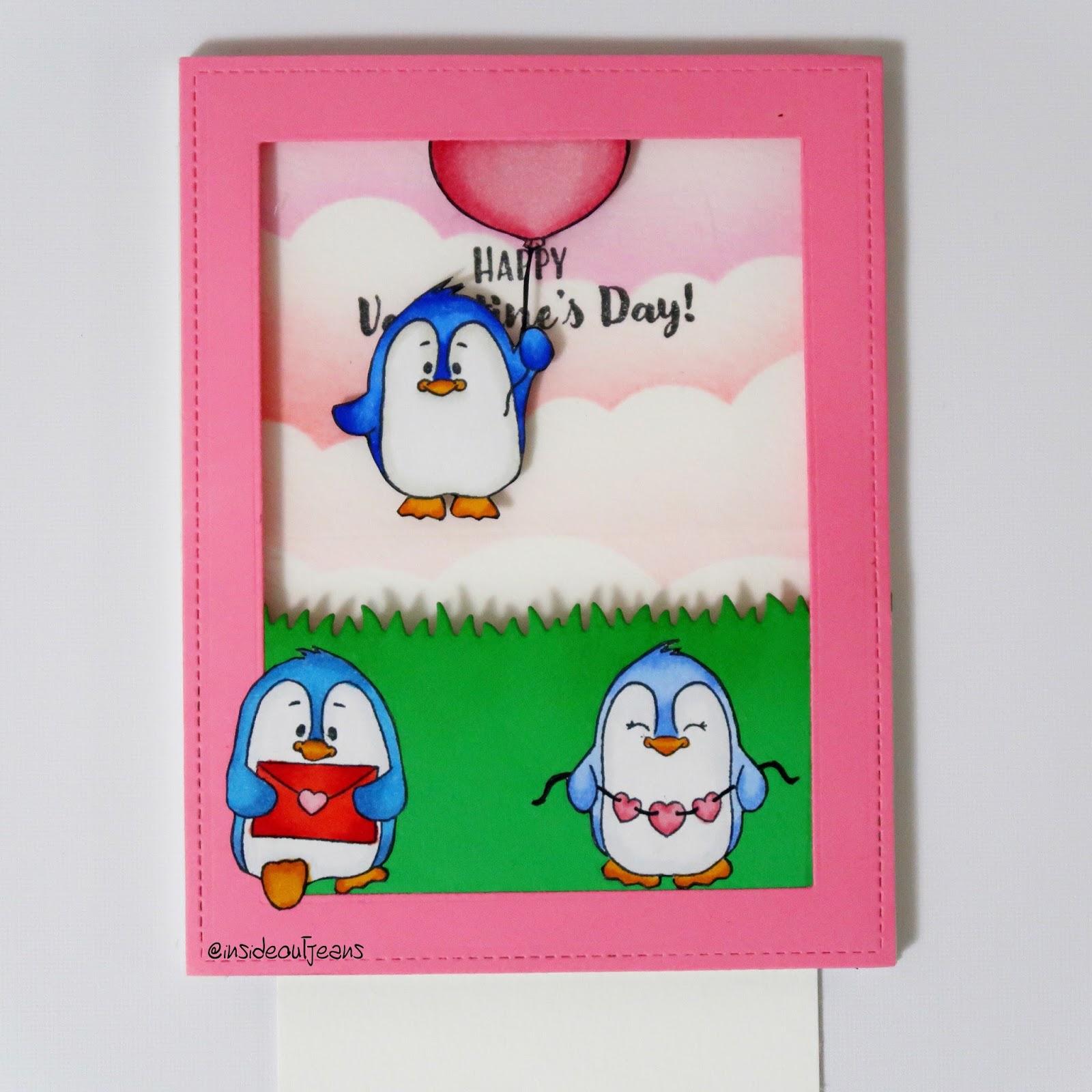 valentine penguins - float away