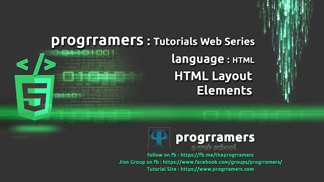 HTML Tutorial - HTML Layout Elements