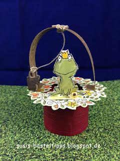 Stampin' Up! Miniatur märchenlandschaft mit Froschkönig am Brunnen