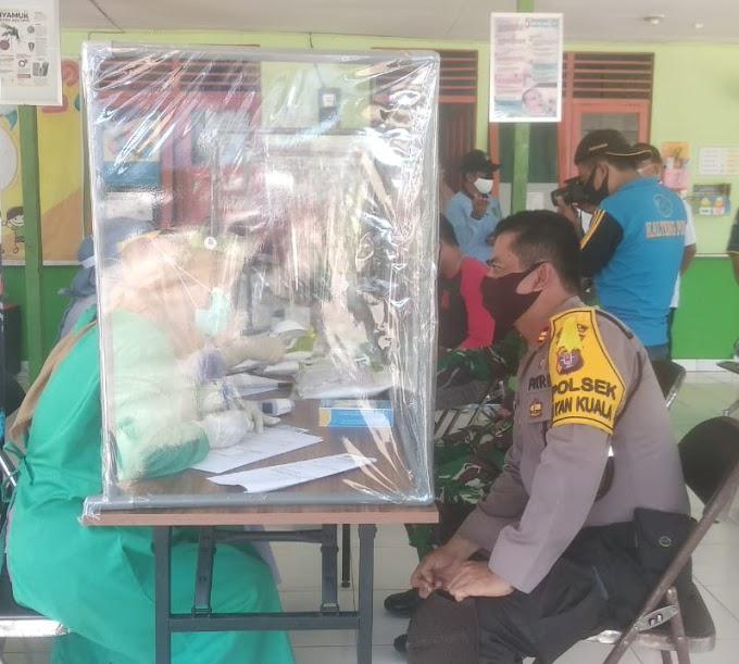 Polsek Kahayan Kuala Ajak Warga Lakukan Rapid Test