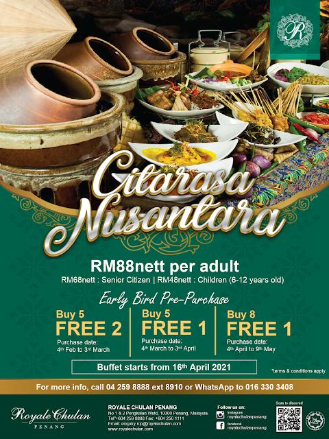 Ramadan Buffet 2021 'Citarasa Nusantara Ramadan' di Royale Chulan Penang