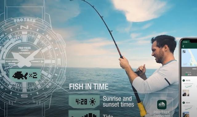 Casio Pro Trek PRTB70 Fish In Time