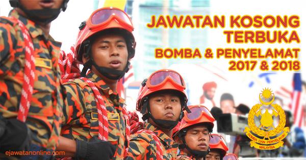 jawatan kosong bomba 2018 2019 2020