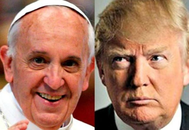 trump vs pope debate on climate change
