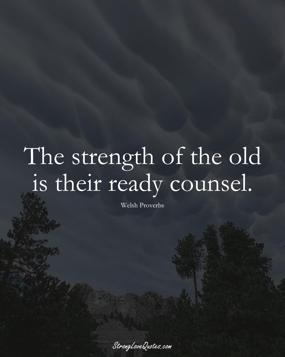 The strength of the old is their ready counsel. (Welsh Sayings);  #EuropeanSayings