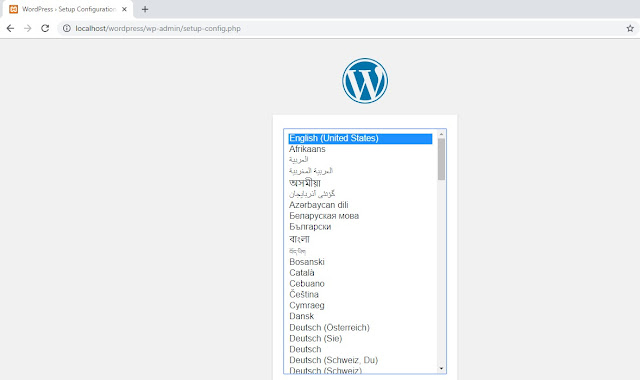setup wordpress loaclhost
