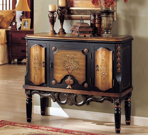 accent chest and tables