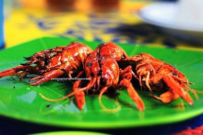 Lobster bakar madu di Warung Nasi 2 Tax Tasikmalaya.