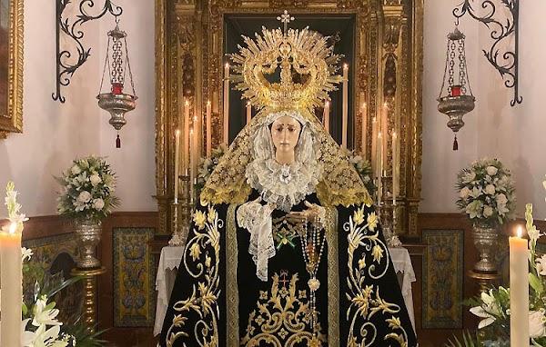 Horario e Itinerario Procesión Extraordinaria de Virgen de los Dolores. Los Molares 26 de Septiembre del 2021