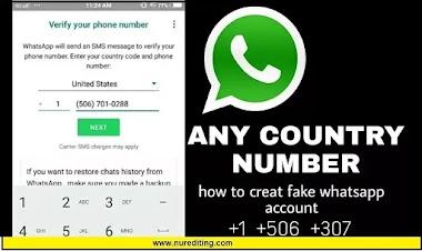 How to create fake whatsapp account  ?