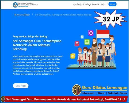 Seri Semangat Guru Kemampuan Nonteknis dalam Adaptasi Teknologi, Sertifikat 32 JP