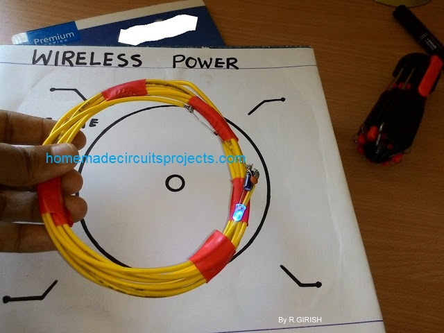 wireless LED working coil details