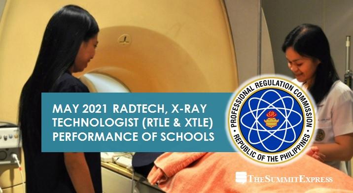 May 2021 Radtech, X-Ray Tech board exam results
