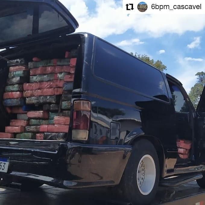 Mais de 1 tonelada de Drogas é aprendida pela Polícia em Cascavel