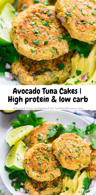 Avocado Tuna Cakes High Protein and Low Carb Recipe