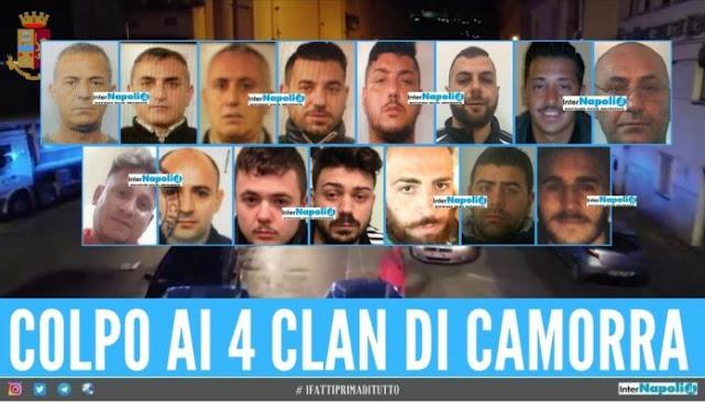 Napoli: maxi blitz antimafia- colpiti i clan Rinaldi, Reale, Formicola e Silenzio