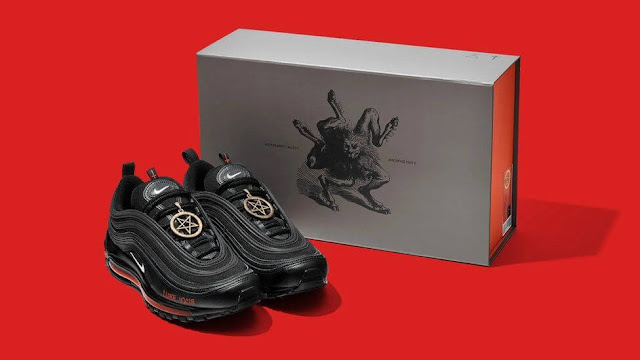 Nike Satan shoes brand by MSCHF photo and price