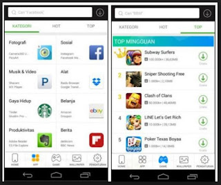tampilan mobo market for android