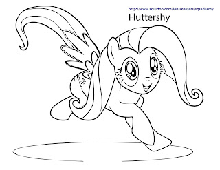 fluttershy coloring pages to print - photo#23