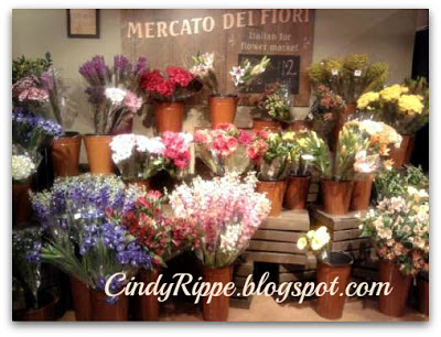 Italian Flower Market, Shopping for flowers, Mariano's in Frankfort, IL, Chicago Flower and Garden Show, Florals-Family-Faith, Cindy Rippe