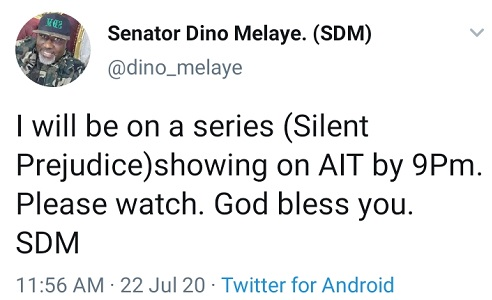 Movie%2Bwhich%2Bwill%2Bsee%2BSenator%2BDino%2BMelaye%2Bdebut%2Binto%2BNollywood%2Bshows%2Btoday%2Bon%2BAIT%2B2 - Film which can see Senator Dino Melaye debut into Nollywood exhibits immediately on AIT
