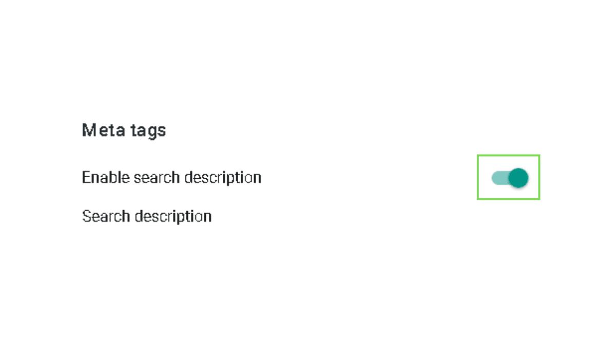 Blogger meta description setting