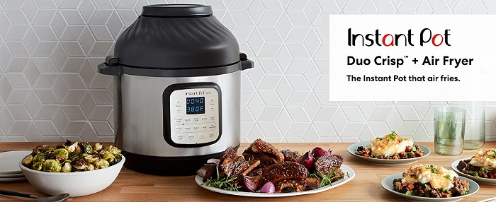 Instant Pot Duo Crisp Pressure Cooker With Air Fryer