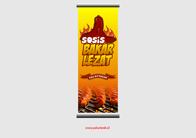 Download 3 Spanduk Banner Sosis Bakar Fomat CDR