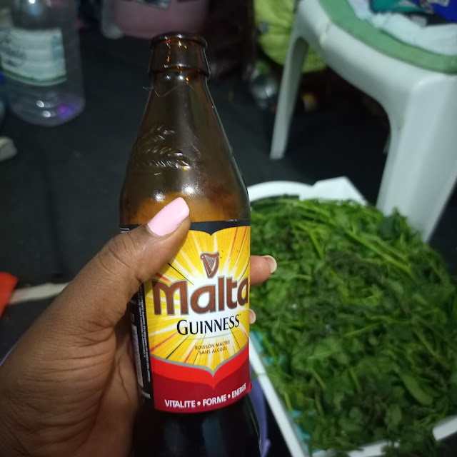 Malta guinness, cameroon, drinking