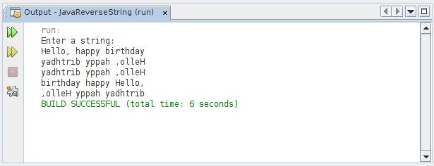 Java-Buddy: Reverse String, reverse words order, reverse chars in words