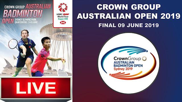 Live CROWN GROUP AUSTRALIAN OPEN 2019