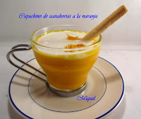 Menú Castanyada 2012,Capuchino de zanahorias a la naranja
