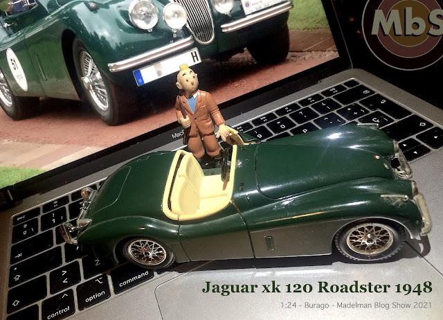 Jaguar XK 120 roadster 1948 de Burago