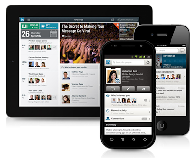 Applicazioni per usare Linkedin da smartphone Android, iOS, BlackBerry e Windows