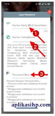 Masukkan Nomor Kartu BPJS Kesehatan dan Nomor HP serta Buatlah Password Baru