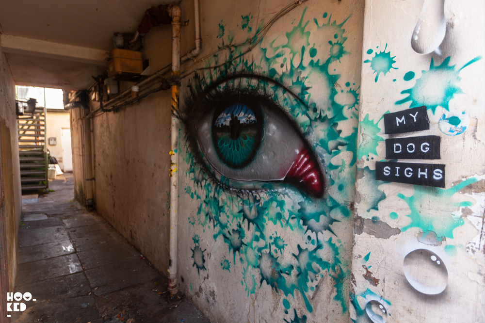 Street Artist My Dog SIghs Mural in Cheltenham, UK