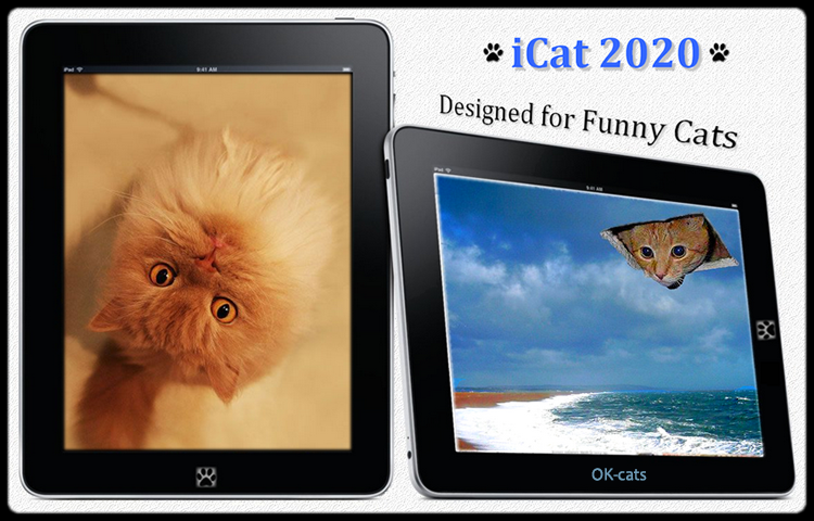 Photoshopped Cat GIF • Icat-2020 Amazing Tablet designed for funny cats (Only for cat lovers)