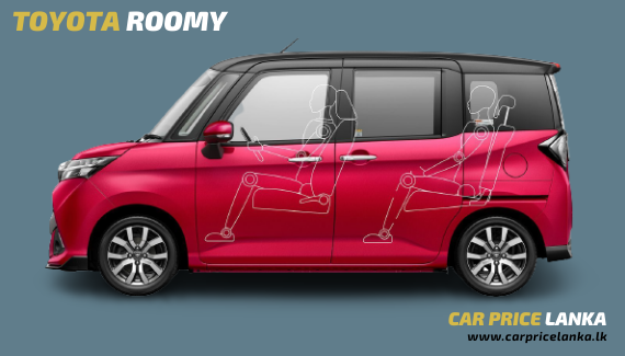 Toyota Roomy side view - Car Price Lanka